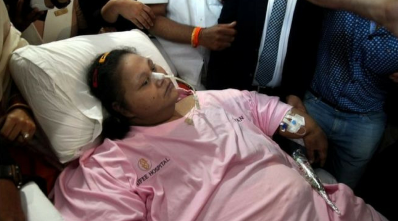 'Heaviest woman' Off to UAE Hospital for Help_ Hear The Hact!