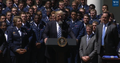 Trump at the U.S. Air Force cademy Commander-in-Chief Trophy Presentation