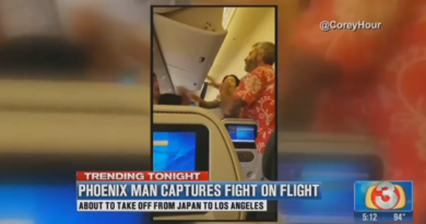 Two Men Fighting on Flight from Japan to Los Angeles.(1)